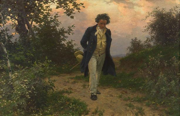 Beethoven marchant dans le Bois de Vienn