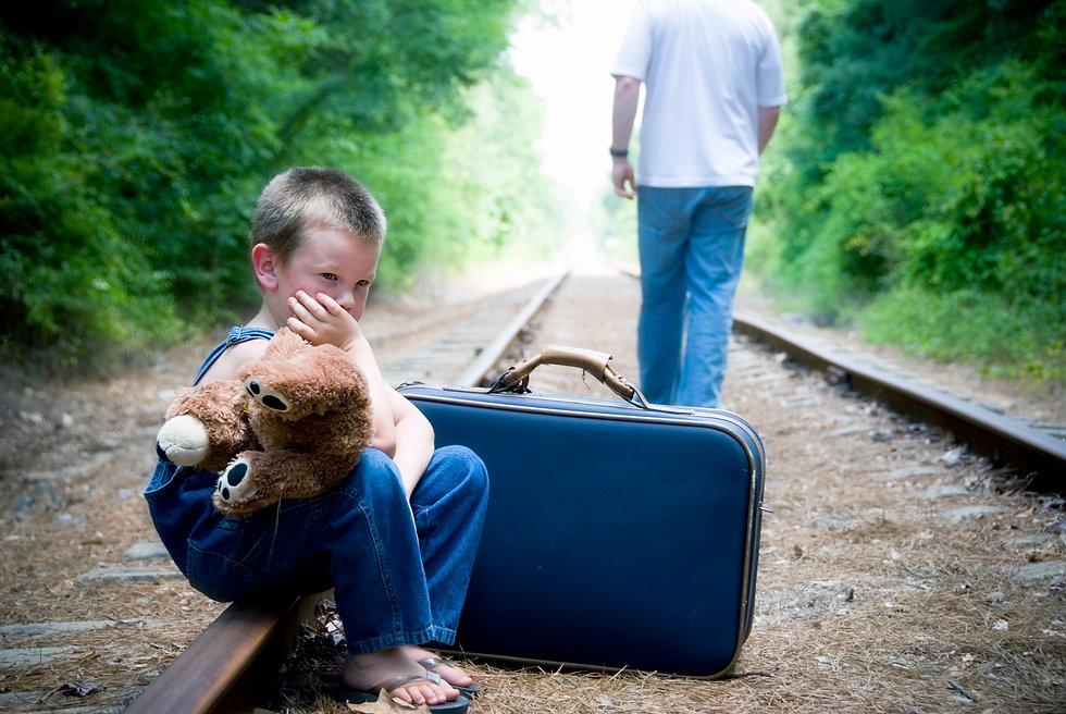boy - dad - railroad tracks - iStock_626