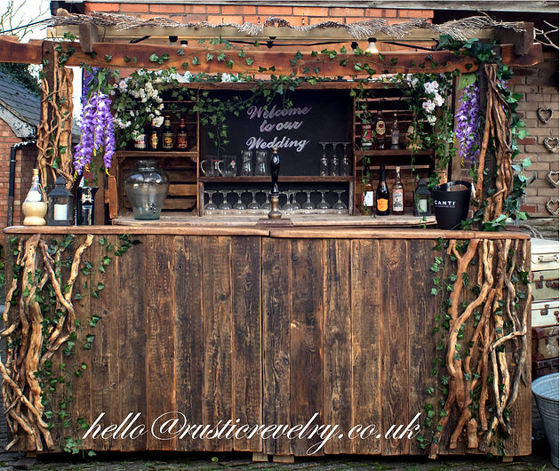 Rusitc Revelry Mobile Bar front