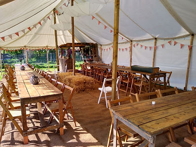 Inside 6x12 Rustic Marquee Hire Shropshire