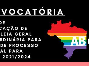 EDITAL DE CONVOCAÇÃO DE ASSEMBLEIA GERAL EXTRAORDINÁRIA PARA DEBATE DE PROCESSO ELEITORAL