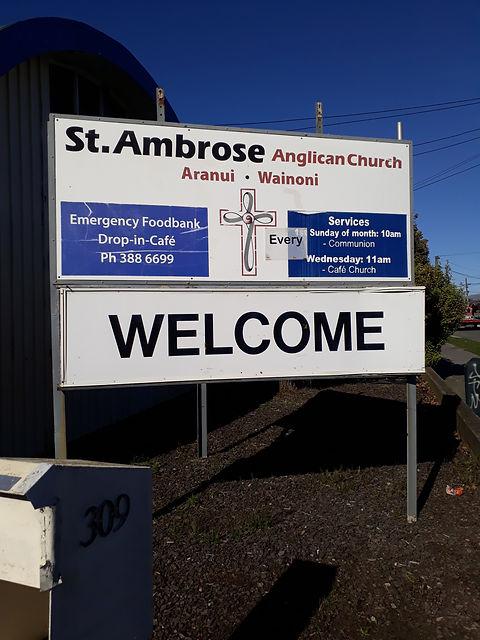 St Ambrose sign 1