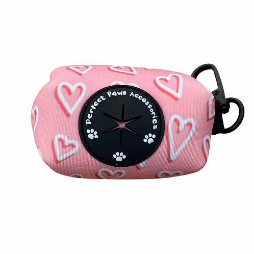 PINK HEARTS Poo Bag Holder
