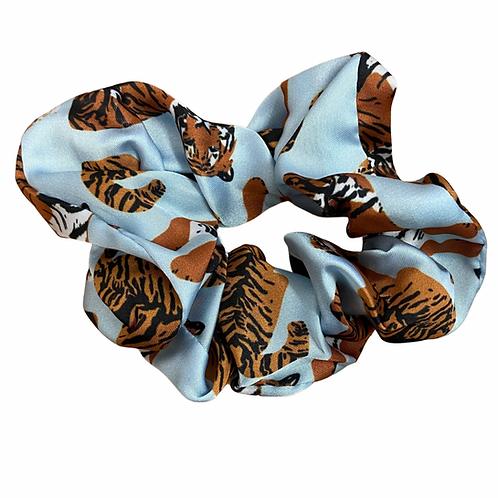 Blue tiger Hair Scrunchie