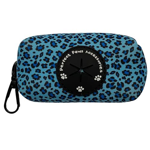 BLUE LEOPARD Poo Bag Holder