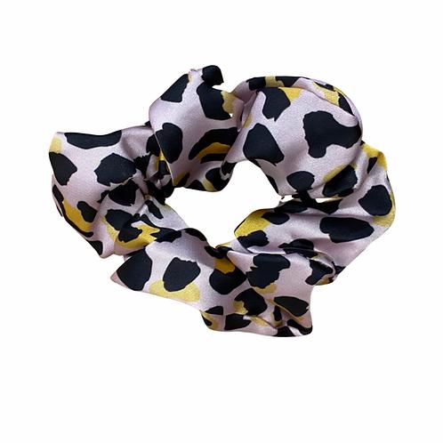 Pink leopard Hair Scrunchie