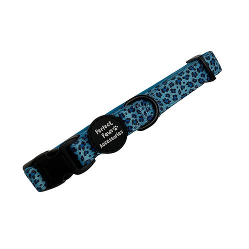 BLUE LEOPARD Adjustable Collar