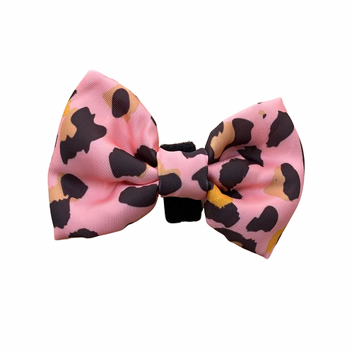 PINK LEOPARD Bow