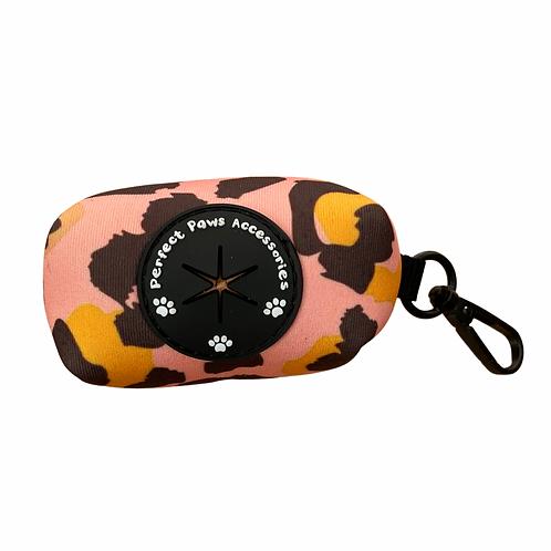 PINK LEOPARD Poo Bag Holder