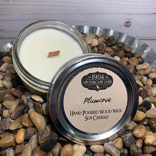 Plumeria Wood Wick Candle