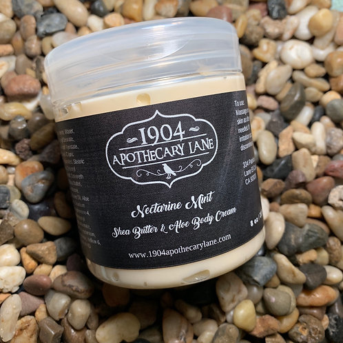 Nectarine Mint Body Cream 8 oz