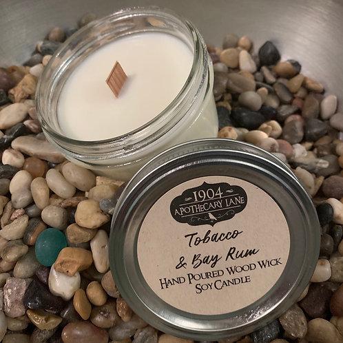 Tobacco & Bay Rum Wood Wick Candle