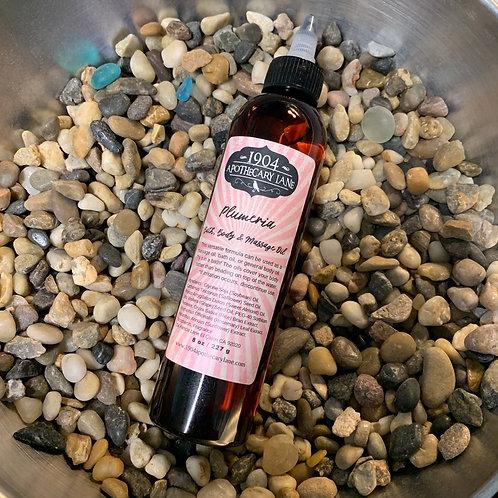 Plumeria Bath, Body & Massage Oil 8 oz