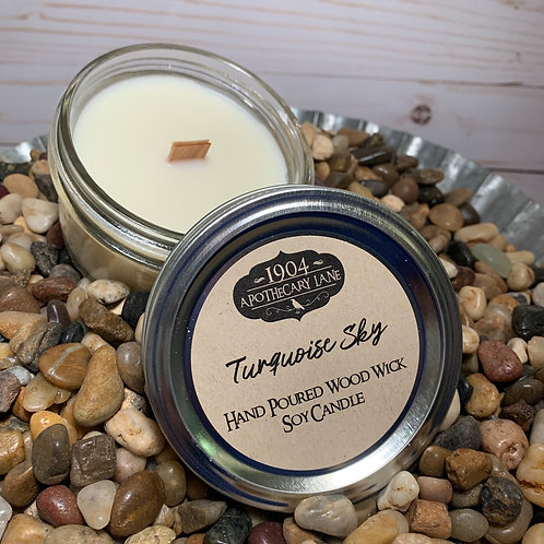 Turquoise Sky Wood Wick Candle