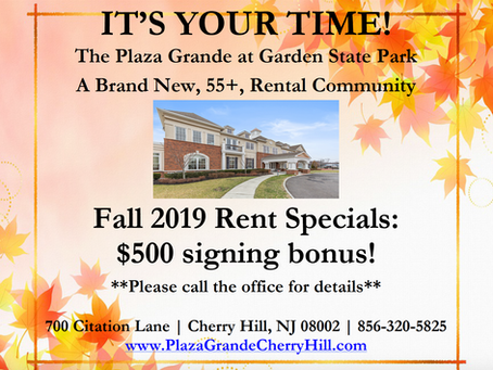 Fall 2019 rent Special