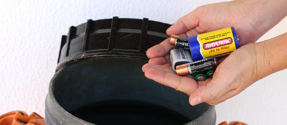 Meio Ambiente promove campanha para o descarte correto de pilhas e baterias