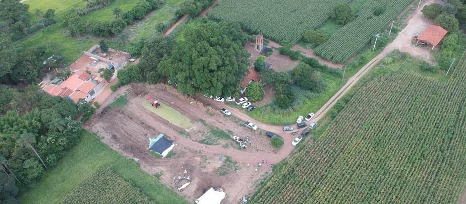 Aula prática da FAAGROH com auxílio de drone amplia visão do campo de cultivo de milho para silagem