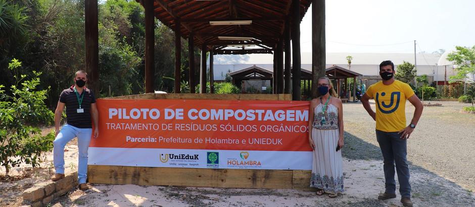 Projeto voltado à implantação de composteiras em escolas municipais do município