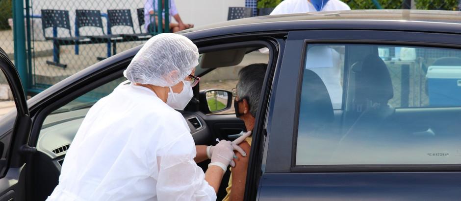 Moradores a partir de 68 anos  começam a ser vacinados segunda-feira, 12