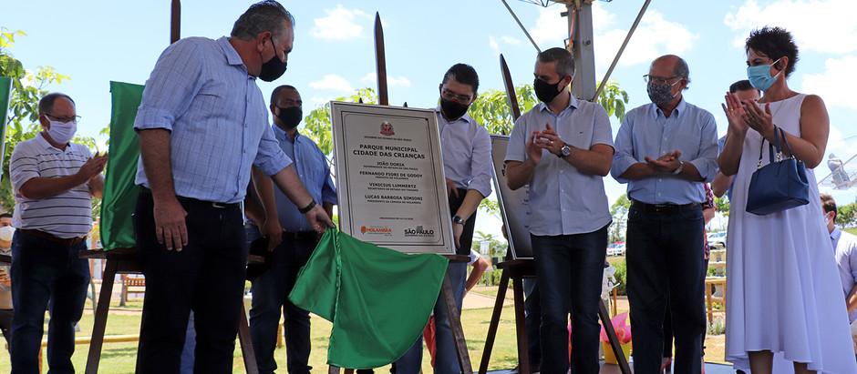 Geraldo Alckmin compareceu na solenidade de inauguração de 17 novas obras em Holambra