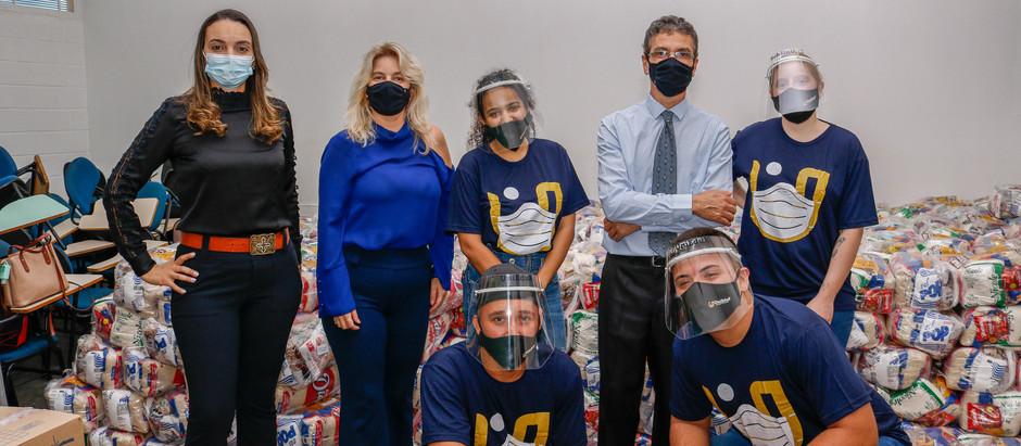 Grupo UniEduK distribui cerca de quatro mil cestas básicas durante o mês de junho