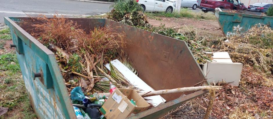 Descarte irregular de lixo nos ecopontos gera risco à Saúde e dá multa