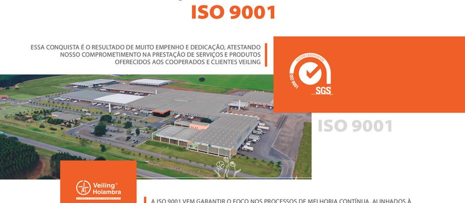 Veiling é ISO 9001 em gestão de qualidade