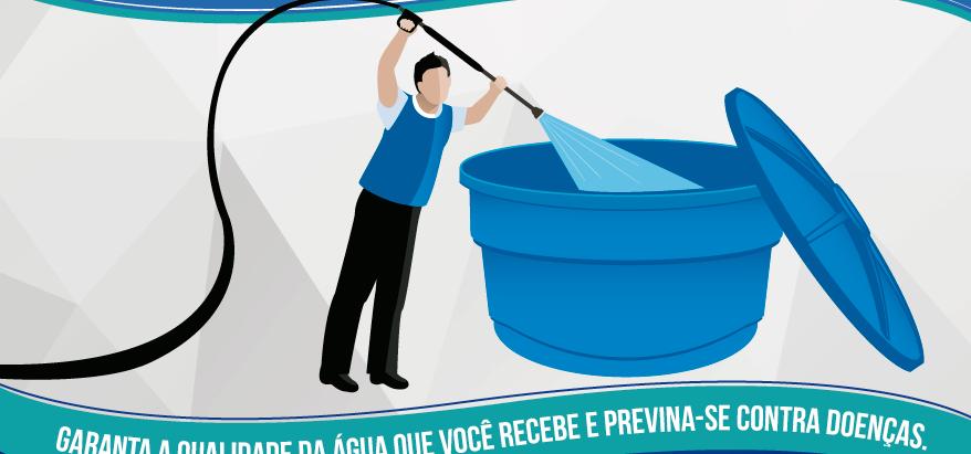 Você sabia que a caixa d'água deve ser limpa com frequência?