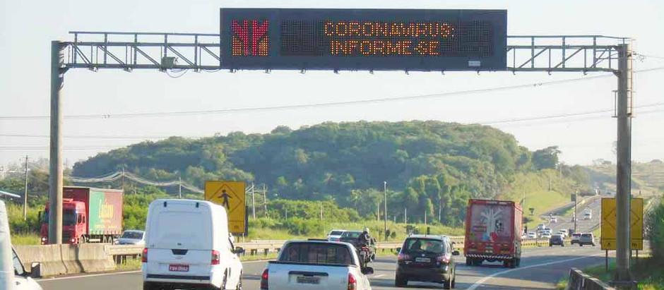 Cabines de pedágio reforçam ações contra coronavírus