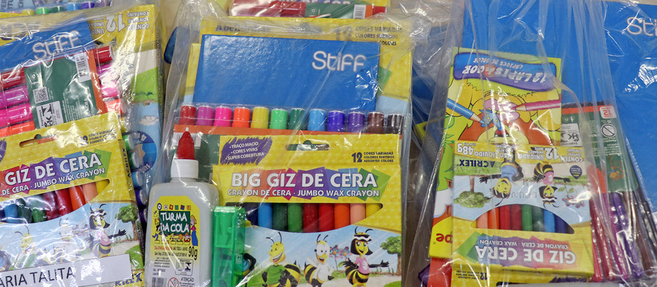 kits de material escolar e apostilas serão entregues a partir  de amanhã, 5/04 na rede municipal