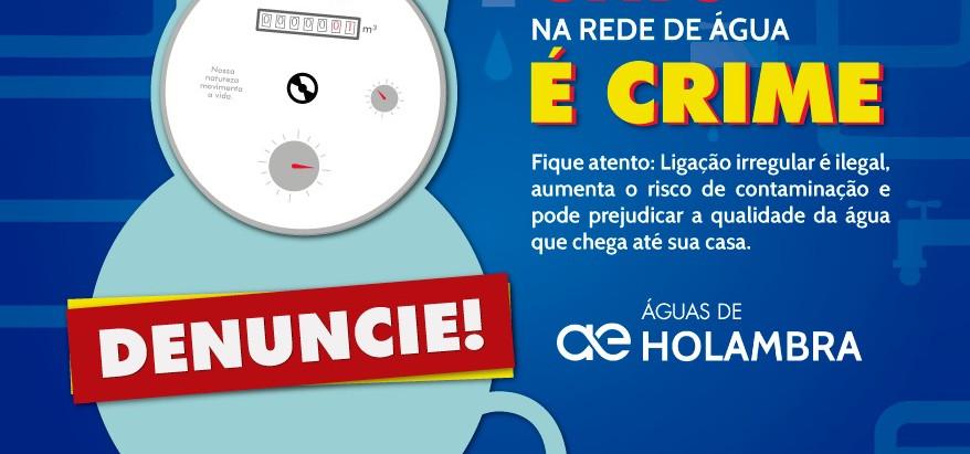 Alerta para fraudes em ligações de água