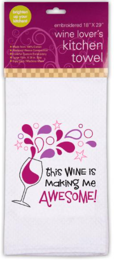 Embroidered Kitchen Towel, Awesome