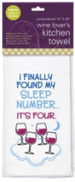 Embroidered Kitchen Towel, Sleep Number