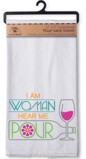 Flour Sack Towel, I Am Woman