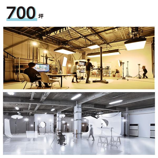 自社スタジオのスペースの広さが700坪