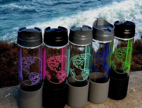 Glass My Positive Water bottles