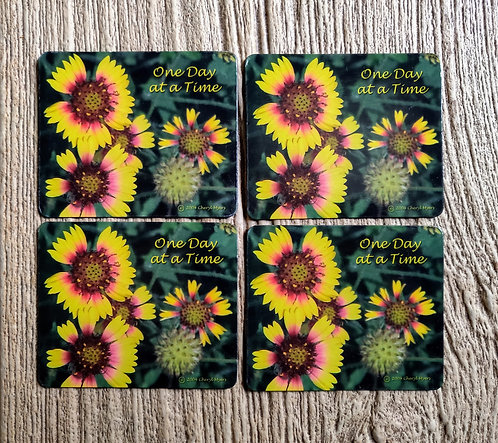 One day at a time magnet set of 4 FREE SHIPPING
