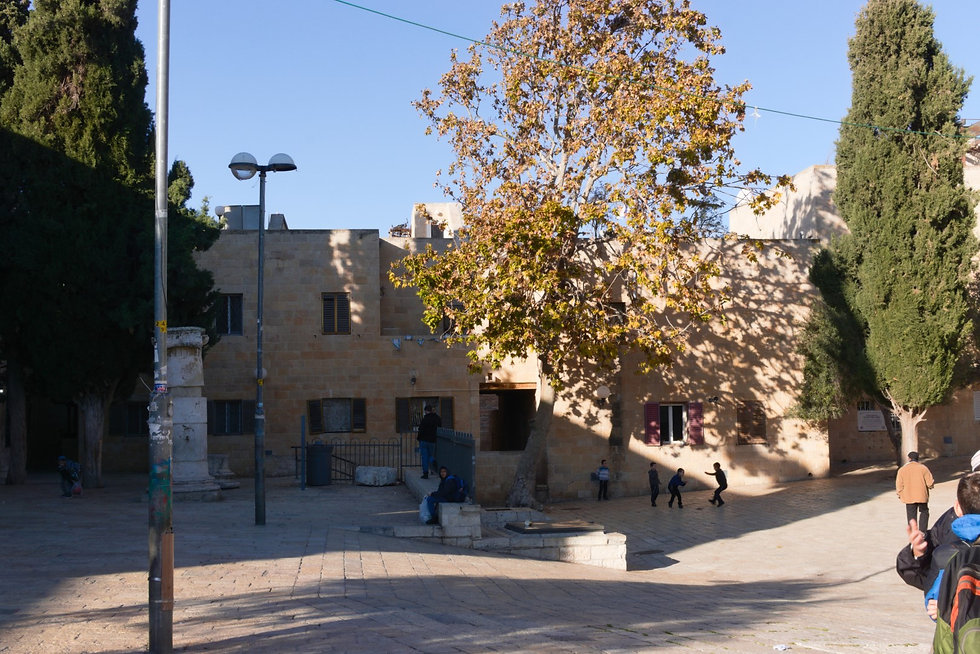 School court yard in the Jewish Quarter