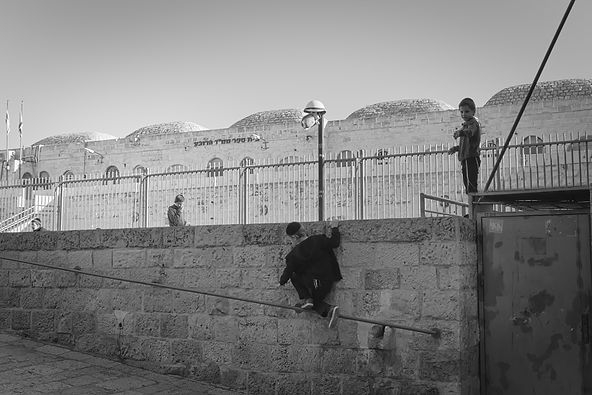 Boys playing - old city Jerusalem