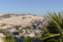 View towards the Mount of Olives