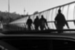 Men walking silhouettes
