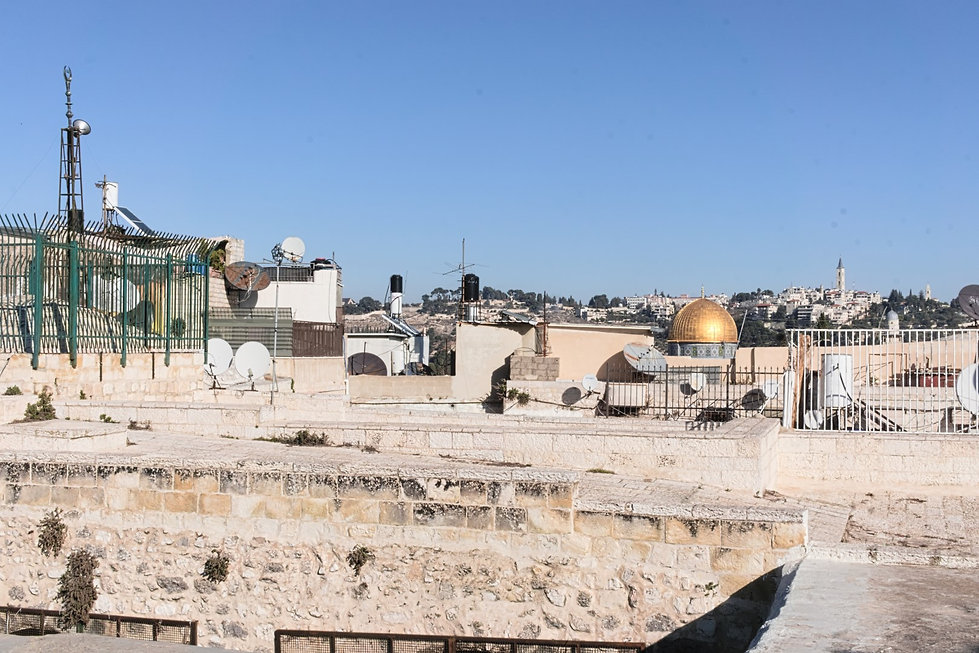 On the roofs of the Jerusalem Old City
