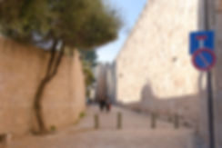 Path by the Old city Walls - Jerusalem