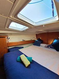sailing canary master cabin 1,accomodation luxury, VIP sailing canari Islands, family holiday