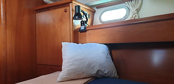 New Karolka aft cabin sailing canaryaccomodation luxury, VIP sailing canari Islands, family holiday,