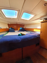 sailing canary master cabin, accomodation luxury, VIP sailing canari Islands, family holiday