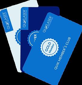 Quiklaser membership cards