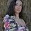 Thumbnail: Top floral mangas asimétricas