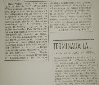 """Abb. 7: Artikel über die Untersuchung an der Deutschen Schule aus der Zeitung """"Diario"""" vom 25.6.1940"""