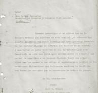 Abb. 3a: Schreiben des Schulinspektors Barrantes vom 14.6.1940
